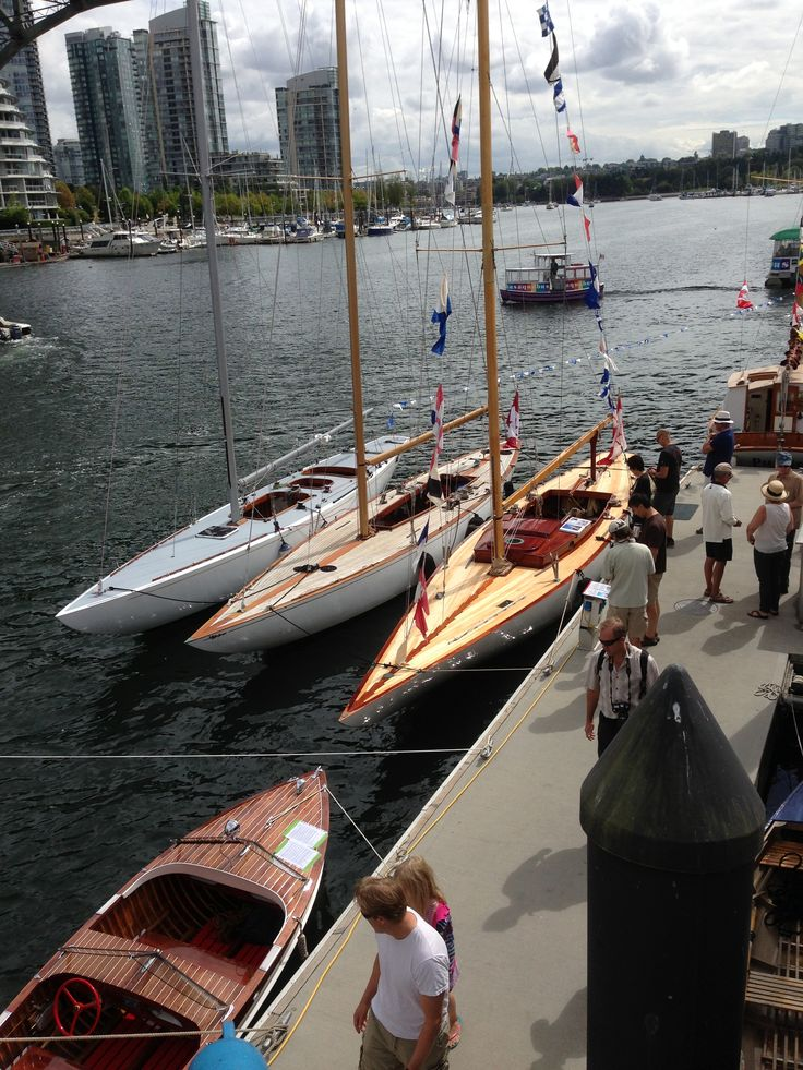 Beautiful  sailboats at the wooden boat festival  Vancouver