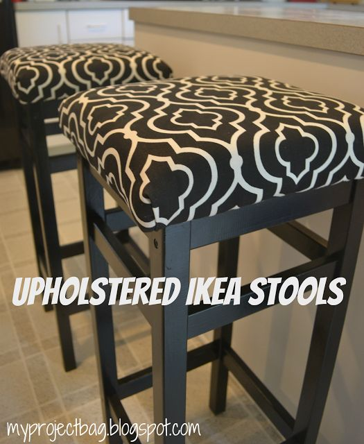 My Project Bag: Upholstered IKEA Stools