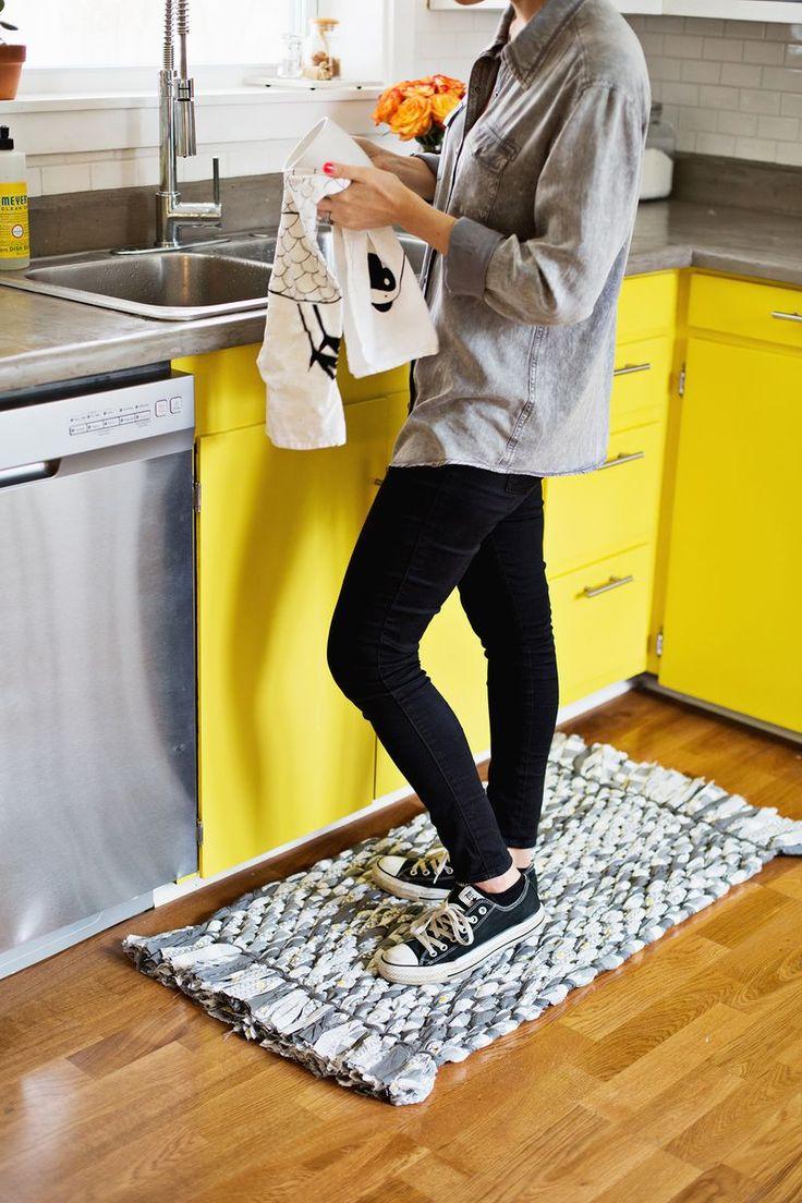 DIY: woven rag rug