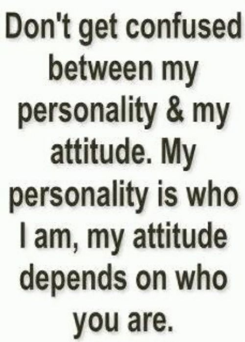 So do you get the difference? Just think about it - I'm not insulting you honey - I'm describing you  - good morning peeps  sogoli