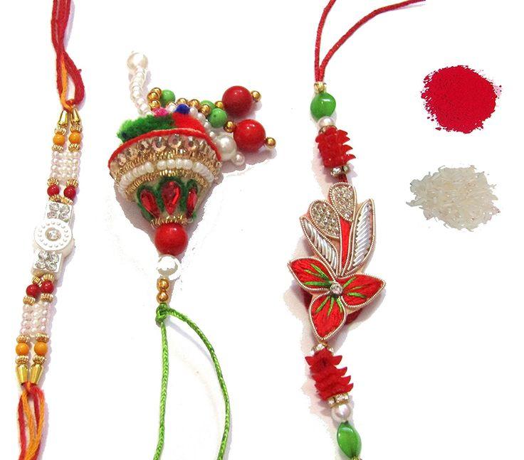 #NKY #Rakhi Unique Design #Rakhi Set Of 2 Rakhi For #bhaiya and bhabhi With moli and #Roli Chawal #Rakshabandhan Special