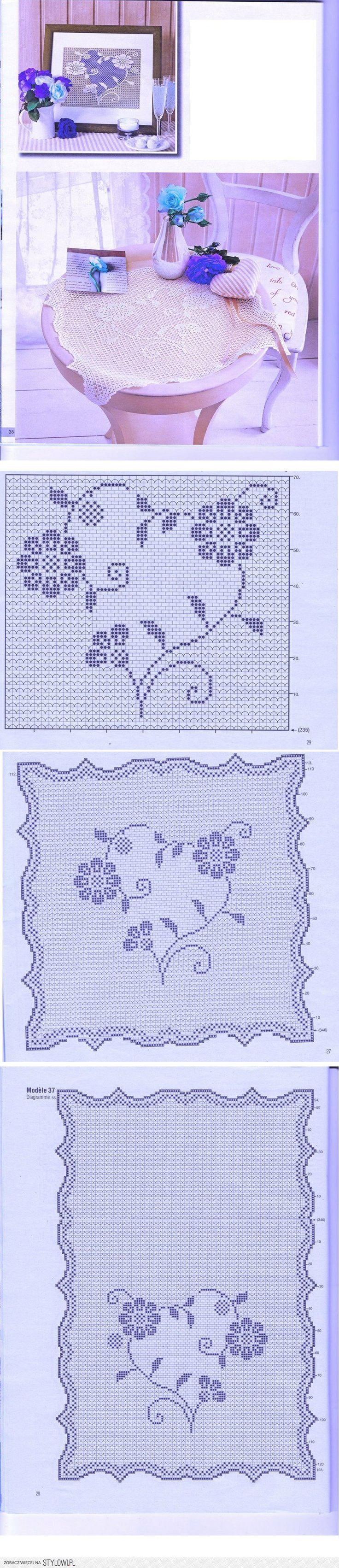 585 besten Crochet - Filet doily Bilder auf Pinterest   Häkeln ...