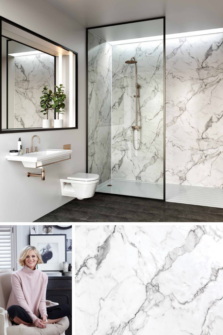 Do You Want The Look And Feel Of Traditional Ceramic Tiles But Without The Cost Marblebathro Marble Tile Bathroom Wall Bathroom Wall Panels Marble Bathroom