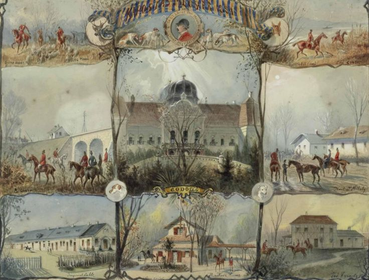 Godollo Castle acquerello 1882