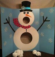 Christmas Party Idea BAG TOSS??? TURN A BAG TOSS TABLE INTO A SNOW MAN?