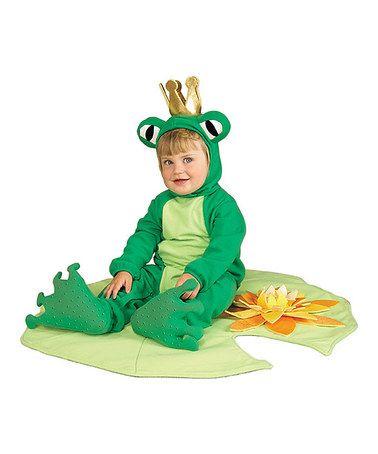 Look at this #zulilyfind! Green Lil' Frog Prince Dress-Up Set - Infant #zulilyfinds