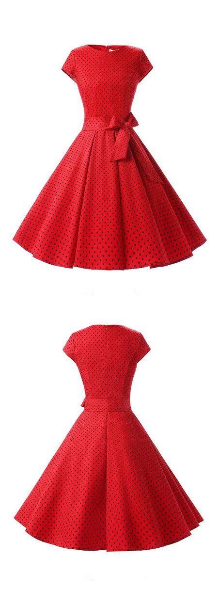 vintage style dresses,ruched retro dresses,rockabilly dresses,vintage dresses,polka dots dresses