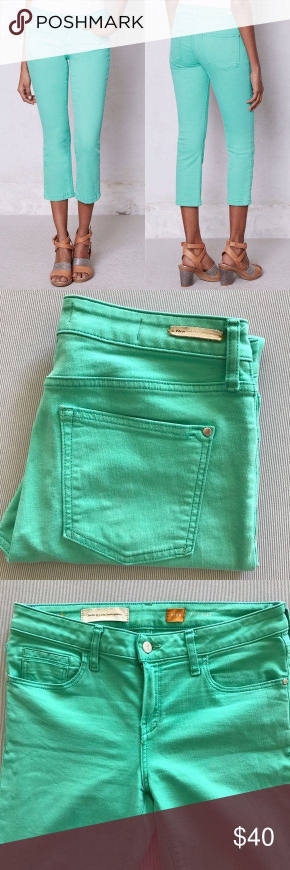 """Pilcro Stet Aqua Jeans In great used condition. Inseam is approx 25"""" Anthropologie Jeans"""