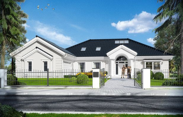 Dom został zaprojektowany jako zmniejszona wersja, o mniejszych wymiarach zewnętrznych, powierzchni zabudowy i powierzchni parteru. Do budynku dodano jednak poddasze użytkowe o powierzchni ponad 50 m2, oraz ponad stumetrową piwnicę. Także gdy razem zliczymy wszystkie kondygnacje dom jest duży.