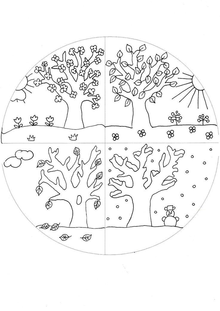 4 Jahreszeiten Kindergarten Ausdrucken Jahreszeiten Jahreszeiten
