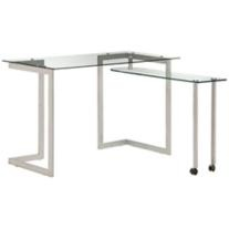 Thrower Tempered Glass Compact Desk