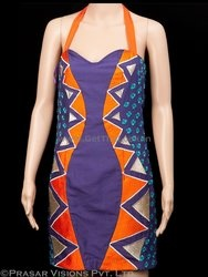 This purple & orange one piece dress is a hot property to shop this season. The color is very vibrant & peppy and the machine embroidery adds more style to the outfit & your personality. Go out & flaunt your style with this dress & grab the spotlight. This dress was selected for Bipasha Basu but not used in the movie 'Jodi Breakers'