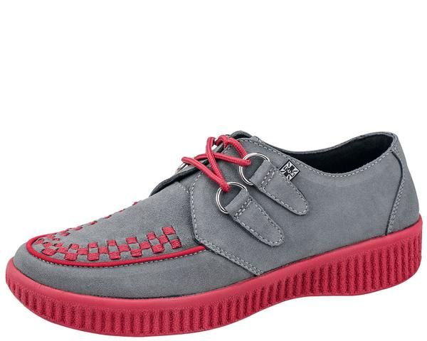 Red Grey Suede Creepers Suede Creepers Creepers And Blackest Black