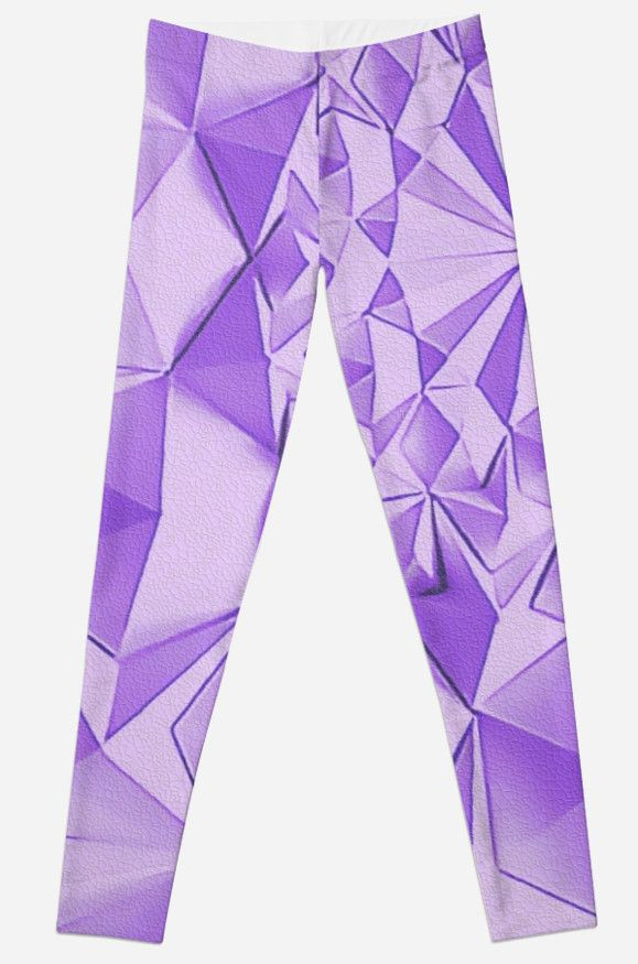 Purple fractals pattern, triangles, geometric by cool-shirts