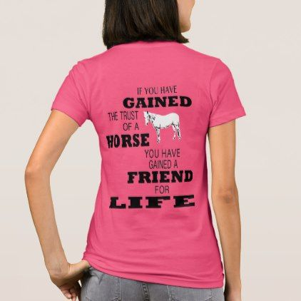 A Horse's Trust T-Shirt - animal gift ideas animals and pets diy customize