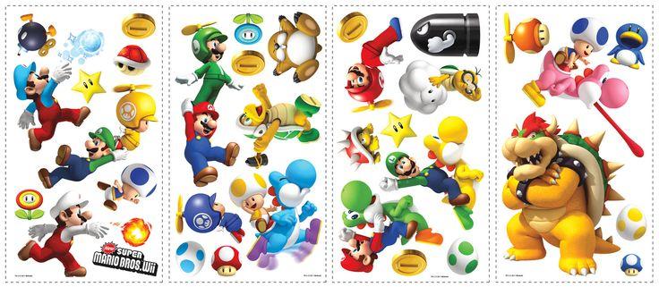 Super Mario Wii Cutout Wall Decal