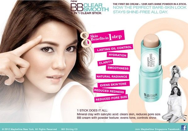 Maybelline BB Clear Smooth 8 in 1 Clear Stick 68.500 diskon jadi 65.000