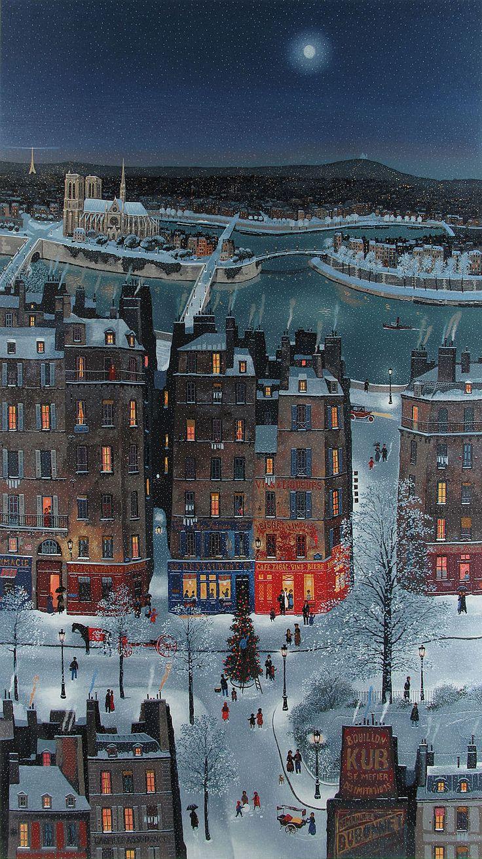 Noel de neige sur Paris - Michel Delacroix