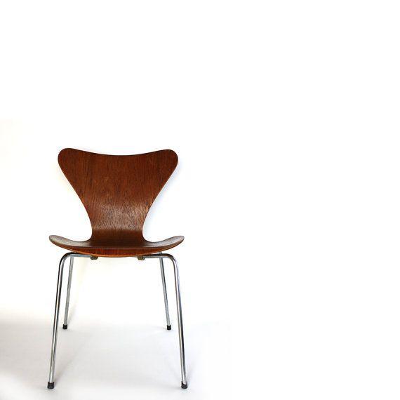 1955 Series 7 Chair Arne Jacobsen Mid Century Modern by Road10, $250.00