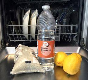 Ingrédients pour fabriquer du liquide lave-vaisselle bio