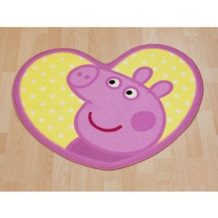 Amazon.com - Girls/Kids Peppa Pig Bedroom Floor Rug/Mat (33 x 26 inches) (Pink) - Childrens Rugs