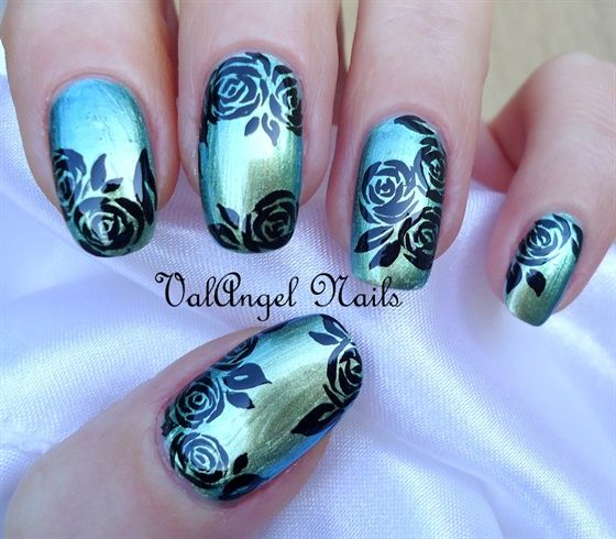 Best 25 rose nail design ideas on pinterest rose nail art rose nail art black roses nail art gallery by nails magazine prinsesfo Choice Image