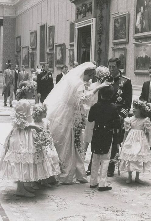 Princess Diana on her wedding day.