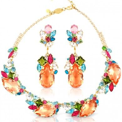 #Unger #Bijoux - Fiore Set #Earring #Necklace #Jewelry #Citrusstv $399