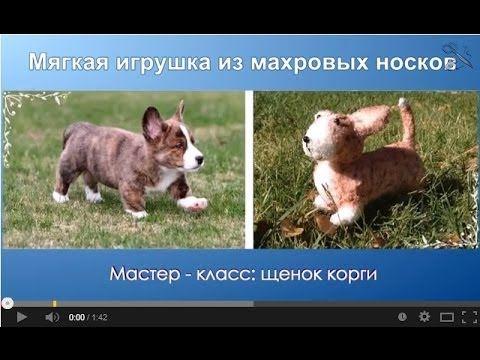 Мягкие игрушки своими руками - щенок корги. МК - YouTube