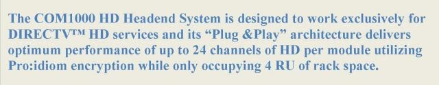 Technicolor Com1000 Pro:Idiom HD Headend System for Hotel Television Systems