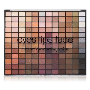 e.l.f. 144 Piece Eyeshadow Palette, Neutral, 20.5 Ounce by e.l.f. Cosmetics. $15.00. 144 gorgeous shades. Pigmented. Long lasting. All the colors of the rainbow. And more. Our ultimate eye shadow palette features 144 gorgeous shades to create endless eye looks for the makeup artist in all of us.