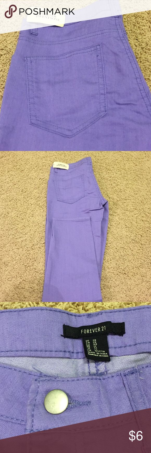 Lavender Jeans Never worn, new with tags Forever 21 Jeans Skinny