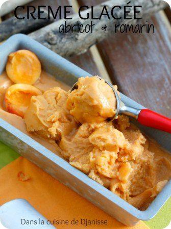 Vegan recipe : gluten free ice cream with peaches and rosemary