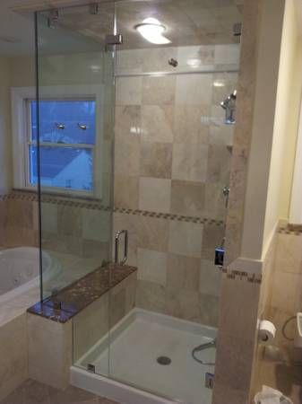 tile shower fiberglass shower pan