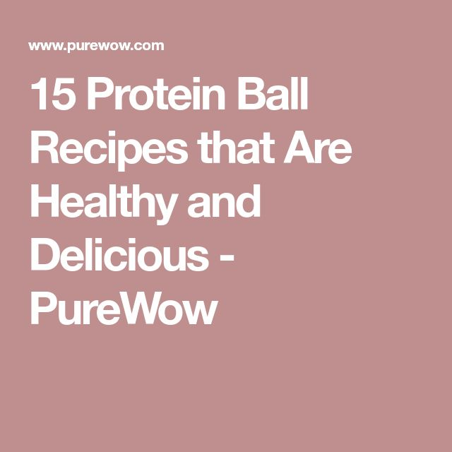15 Protein Ball Recipes that Are Healthy and Delicious - PureWow