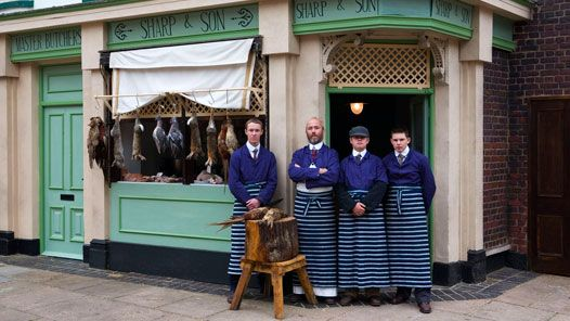 Andrew Sharp and the staff of Sharp & Son Butchers