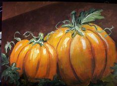 Pumpkin canvas painting                                                       …