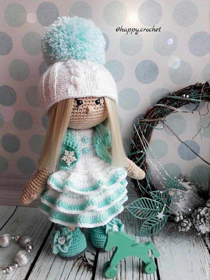 Купить Принцесса Эльза - бирюзовый, белый, кукла ручной работы, кукла, кукла в подарок