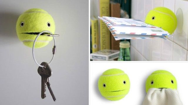Use Tennis Balls to Hold Just About Any Small Item Around the House (and Be Extremely Cute): Stuff, House, Craft Ideas, Diy, Tennis Balls, Tennis Ball, Crafts
