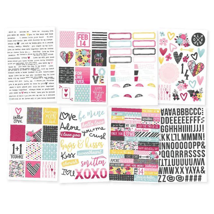"Love & Adore Stickers 4""X6"" 8/Pkg | Notions Marketing"