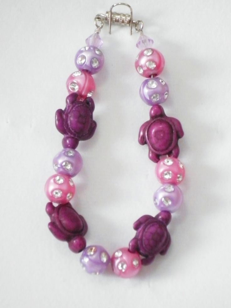 Purple Turtles Kids Bracelet