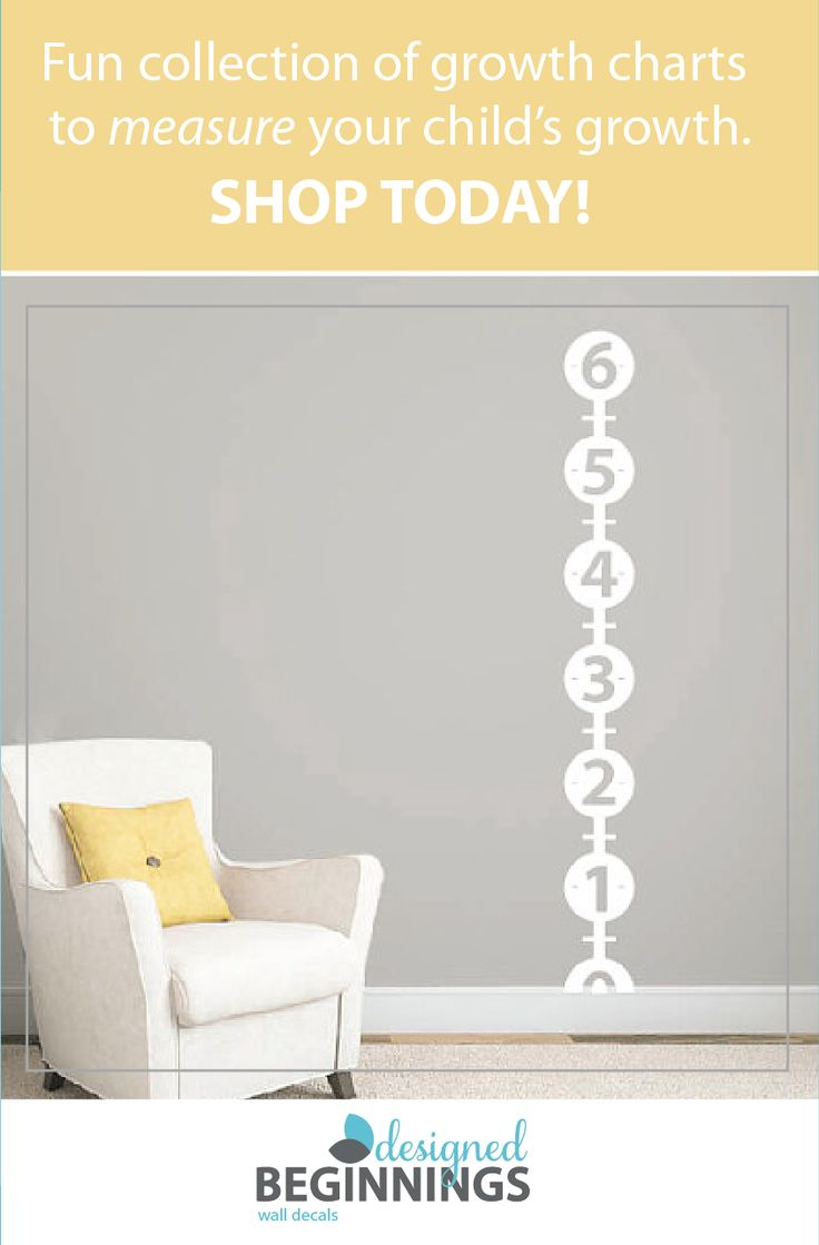 Use this fun measurement chart to measure your child's growth. These kids growth charts apply easily to the wall and are removable! Child growth chart, Kids wall stickers, Kids stickers, Kids height chart, Wall decals for kids