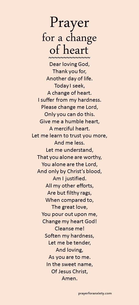 Has your heart been hardened? Let this prayer inspire you ask God for help. Let God soften your heart. Let him set you free so you can love again.