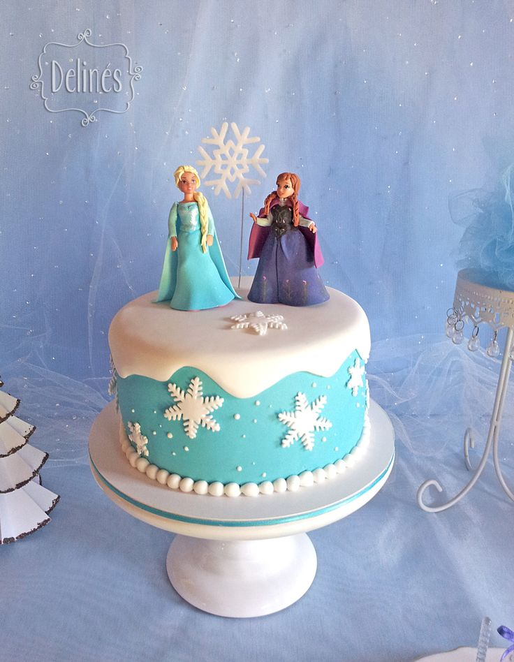 Torta frozen. Princesa Ana y Elsa