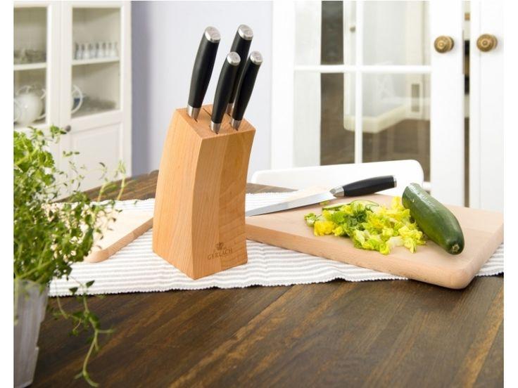 Gerlach Deco Black 991A - zestaw 5 noży kuchennych w bloku, Gerlach noże kuchenne Deco Black, gotowanie, nowoczesna kuchnia, pomysł na prezent
