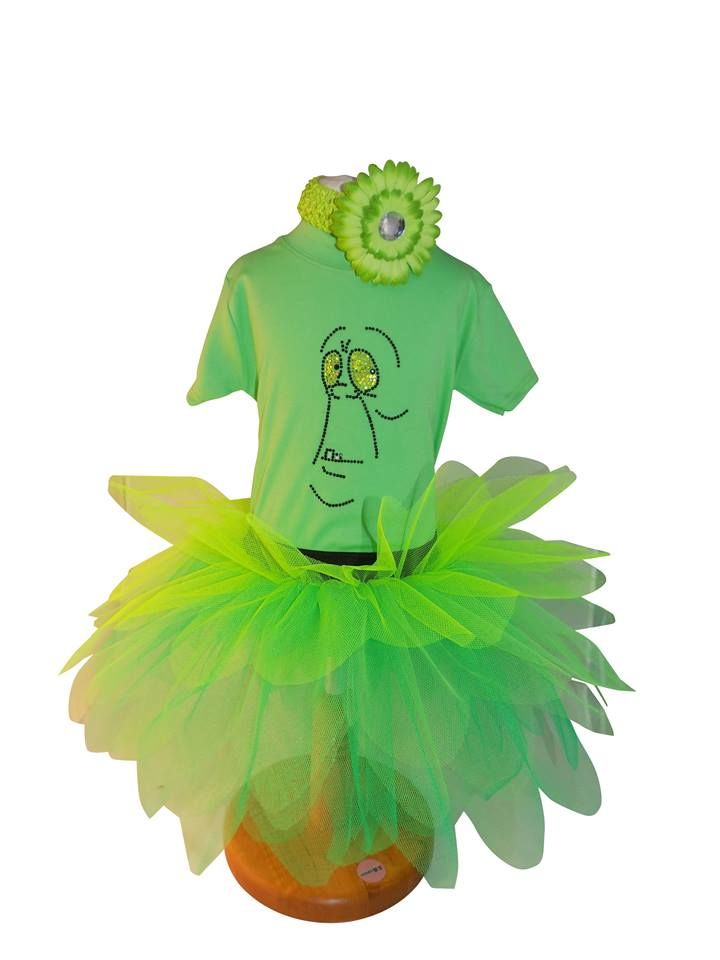 Perfect for Halloween! Look at this gorgeous diamante Slimer tutu by Honey B's…