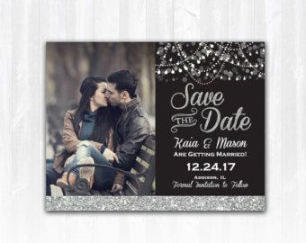 Wedding Save the dates Silver Save the Date silver by VPElegance