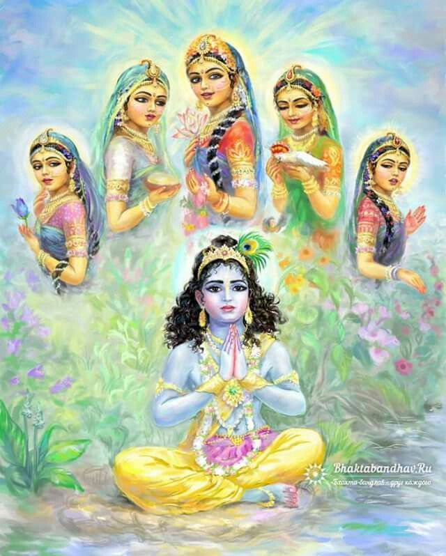 Lord Krishna and the damsels of Vraj