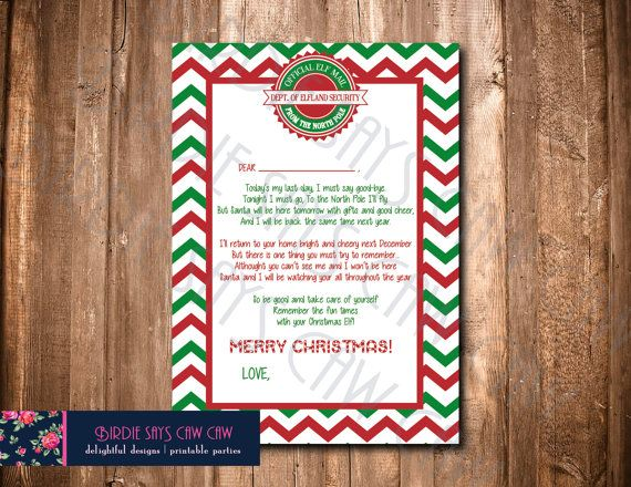 SALE Instant Download Goodbye Elf Letter So by BirdieSaysCawCaw SALE Elf Welcome Back Letter Instant Download by BirdieSaysCawCaw elf on the shelf elf welcome letter elf naming letter elf naughty notice elf warning reindeer food elf magic dust kit elf naming kit santa december shelf elf shelf christmas