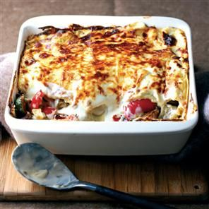Roasted Mediterranean vegetable lasagne recipe